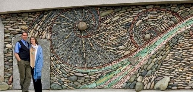 Unique Mosaics Stone Adorn Interior And Exterior Walls | Houzz Home Inside Abstract Mosaic Art On Wall (Image 17 of 20)