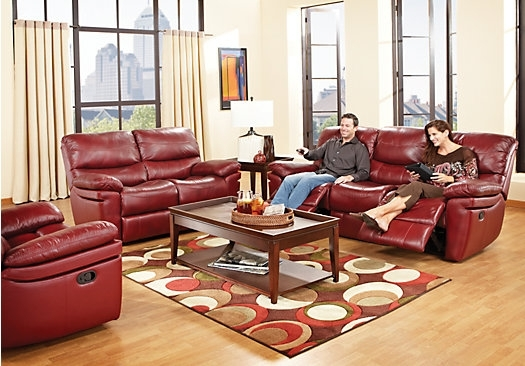 Unique Red Leather Living Room Furniture 22 On Sofa Design Ideas With Red Leather Couches For Living Room (Image 10 of 10)