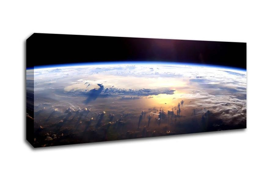Universe Panoramic Panel Canvas Artwallart Direct.co.uk With Panoramic Canvas Wall Art (Photo 8 of 20)