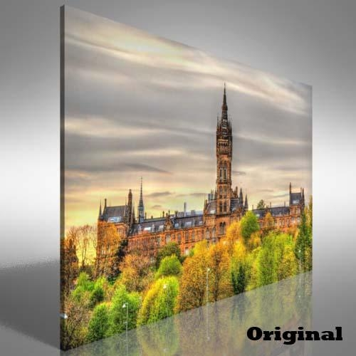 University Of Glasgow Canvas Print Large Picture Wall Art | Ebay Intended For Glasgow Canvas Wall Art (Image 18 of 20)