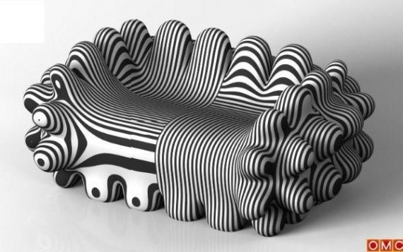 Unusual Sofa Design Retrovirus Sofa | Weird Things And Places Inside Unusual Sofa (Photo 1 of 10)