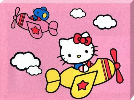 Up And Away With Hello Kitty, Sanrio's Hello Kitty – Popartuk Pertaining To Hello Kitty Canvas Wall Art (View 14 of 20)