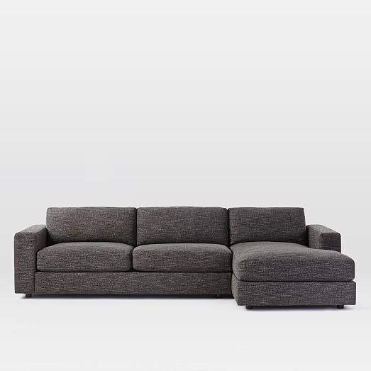 Urban 2 Piece Chaise Sectional | West Elm With Regard To Sectional Sofas With 2 Chaises (View 6 of 10)
