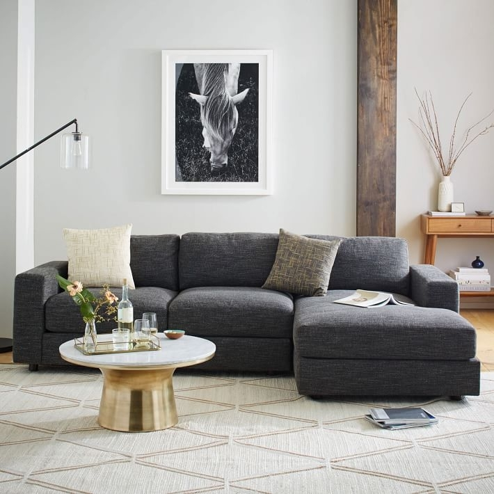 Urban 2 Piece Chaise Sectional | West Elm With Regard To West Elm Sectional Sofas (Photo 4 of 10)