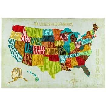 Usa Modern Canvas Wall Decor | Hobby Lobby | 964551 Regarding Canvas Wall Art At Hobby Lobby (View 4 of 20)