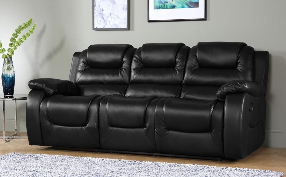 Vancouver Leather Recliner Suite 3+2 Seater (Black) Only £ (Image 9 of 10)
