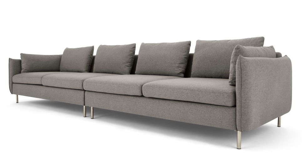 Vento 4 Seater Sofa, Manhattan Grey | Made Throughout 4 Seater Sofas (Image 10 of 10)