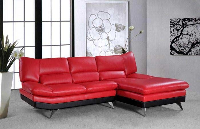 Vg 4 Sectional Sofa Bright Red Leather Sectionals Intended For Plans With Regard To Red Leather Sectionals With Chaise (Image 10 of 10)