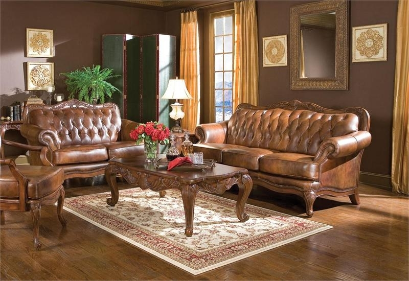 Victoria Traditional Sofa Set 500681 In Traditional Sofas And Chairs (Image 10 of 10)