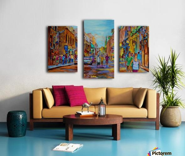 Vieux Montreal Street Scene – Carole Spandau Canvas With Montreal Canvas Wall Art (Image 19 of 20)