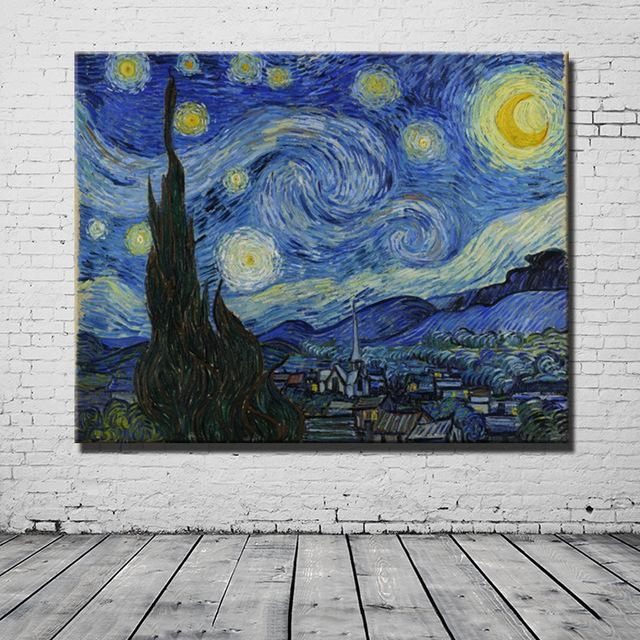 Vincent Van Gogh Masters Starry Night Painting Reputation Wall Art With Regard To Masters Canvas Wall Art (View 5 of 20)