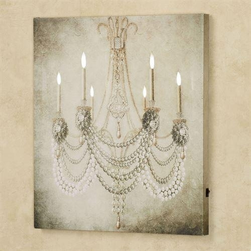 Vintage Chandelier Led Lighted Canvas Art With Regard To Chandelier Canvas Wall Art (Image 14 of 20)