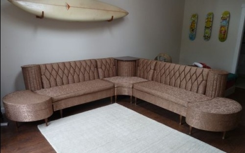 Vintage Newport Chesterfield Sectional Sofa With Hideaway Spaghetti With Vintage Sectional Sofas (Image 10 of 10)