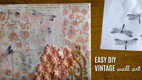 Vintage Wall Art Made Easy – Diy Mixed Media Canvas – Diy Joy Regarding Joy Canvas Wall Art (Photo 17 of 20)