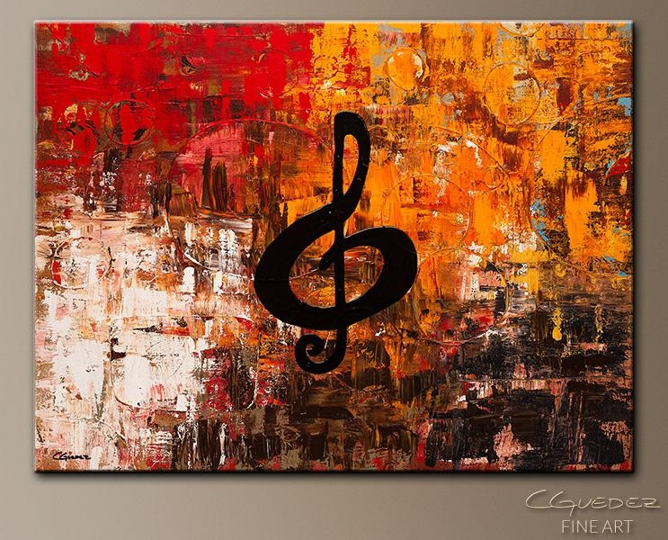 Virtuoso Music Art/jazz Wall Art Paintings For Sale|Guitar|Piano Inside Abstract Music Wall Art (Image 18 of 20)