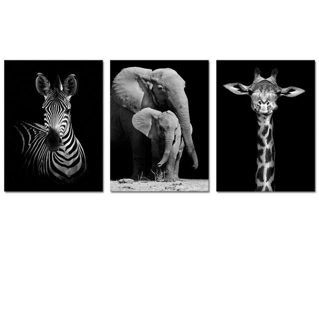 Visual Art Decor Animals Canvas Wall Art Elephant Zebra Giraffe Inside Giraffe Canvas Wall Art (Image 18 of 20)