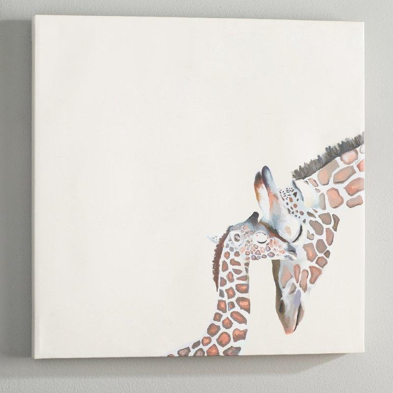 Viv + Rae Kris You And Me Giraffe Canvas Wall Art & Reviews | Wayfair Inside Giraffe Canvas Wall Art (Image 19 of 20)