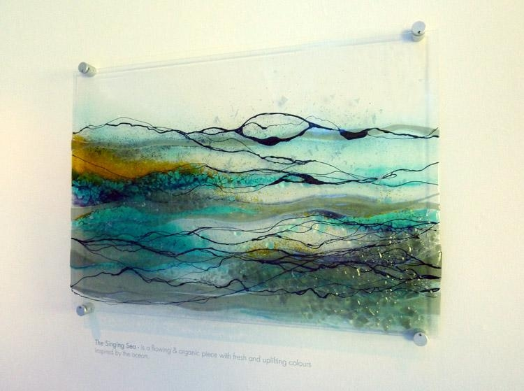 Wall Art: Amazing Idea For Glass Wall Art Panels Glass Wall Panels With Abstract Fused Glass Wall Art (Image 20 of 20)