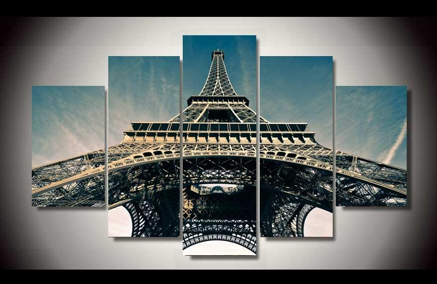 Wall Art: Amusing Paris Canvas Wall Art Paris Canvas Art Amazon Throughout Eiffel Tower Canvas Wall Art (Image 19 of 20)