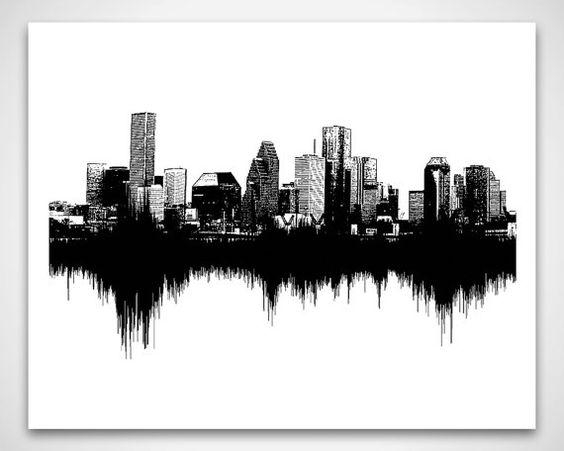 Wall Art: Astounding Seattle Wall Art Seattle Skyline Wall Decal Within Houston Canvas Wall Art (Photo 6 of 20)