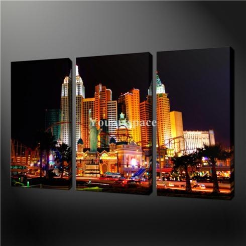 Wall Art: Beautiful Pictures Gallery Of Las Vegas Wall Art Las For Las Vegas Canvas Wall Art (Image 18 of 20)