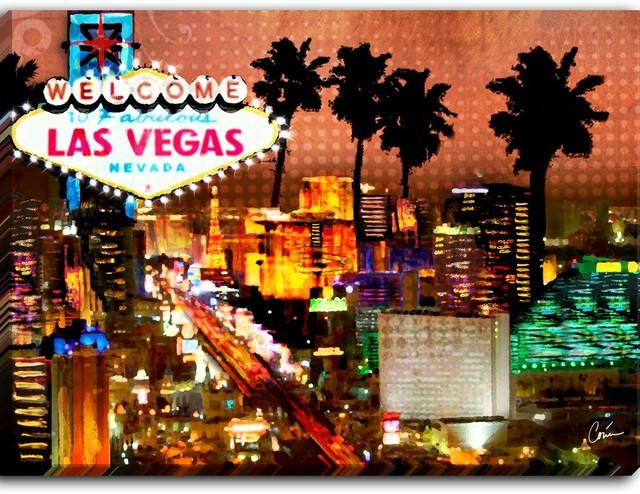 Wall Art: Beautiful Pictures Gallery Of Las Vegas Wall Art Las Within Las Vegas Canvas Wall Art (Image 20 of 20)