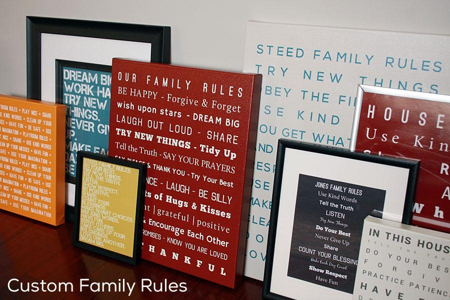 Wall Art: Best Ideas Family Canvas Wall Art Family Tree Canvas Throughout Canvas Wall Art Family Rules (Image 20 of 20)