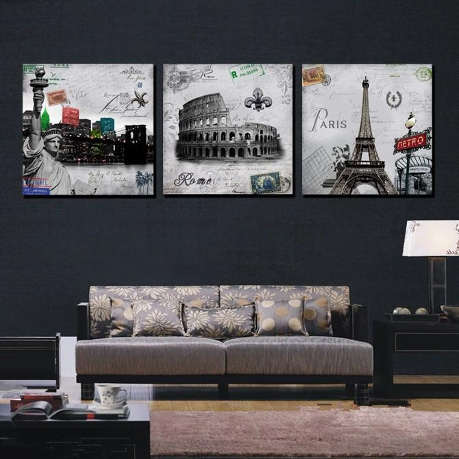 Wall Art Decor: Calligraphy Piece Paris Canvas Wall Art Free Hot With Regard To Canvas Wall Art Of Paris (Image 16 of 20)