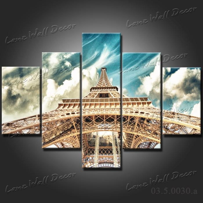 Wall Art Decor: Eiffel Tower Paris Canvas Wall Art Free Shipping With Canvas Wall Art Of Paris (Image 17 of 20)