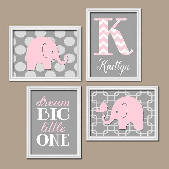 Wall Art Decor: Elephant Big Canvas Wall Art Nursery Baby Kaitlyn Throughout Nursery Canvas Wall Art (Image 17 of 20)