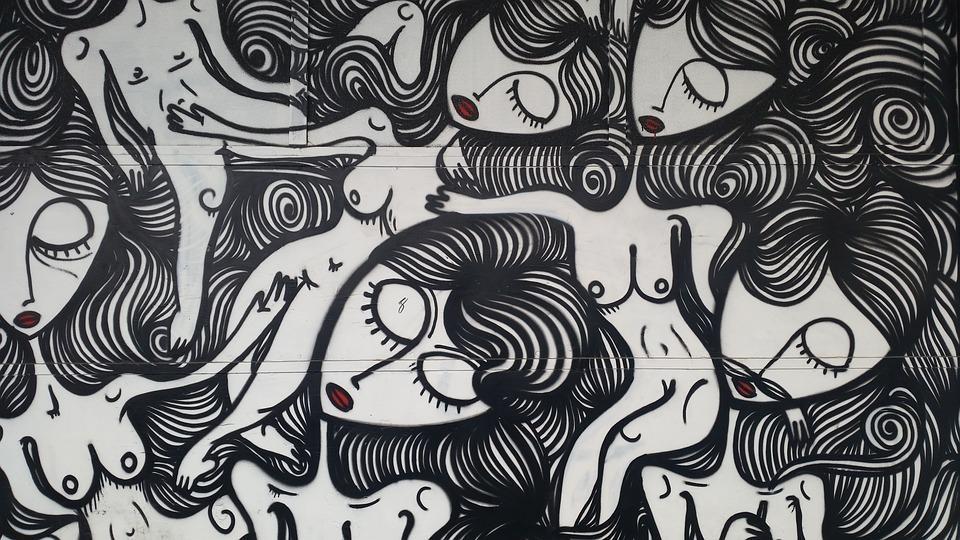 Wall Art Decor Ideas: Abstract Adorable Black And White Graffiti For Abstract Graffiti Wall Art (Image 19 of 20)