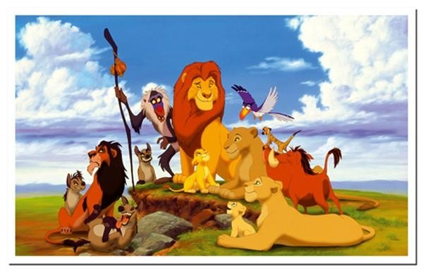 Wall Art Decor Ideas: Astounding Lion King Canvas Wall Art, Lion Regarding Lion King Canvas Wall Art (Image 18 of 20)