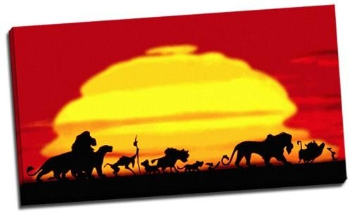 Wall Art Decor Ideas: Astounding Lion King Canvas Wall Art, Lion Regarding Lion King Canvas Wall Art (Image 17 of 20)