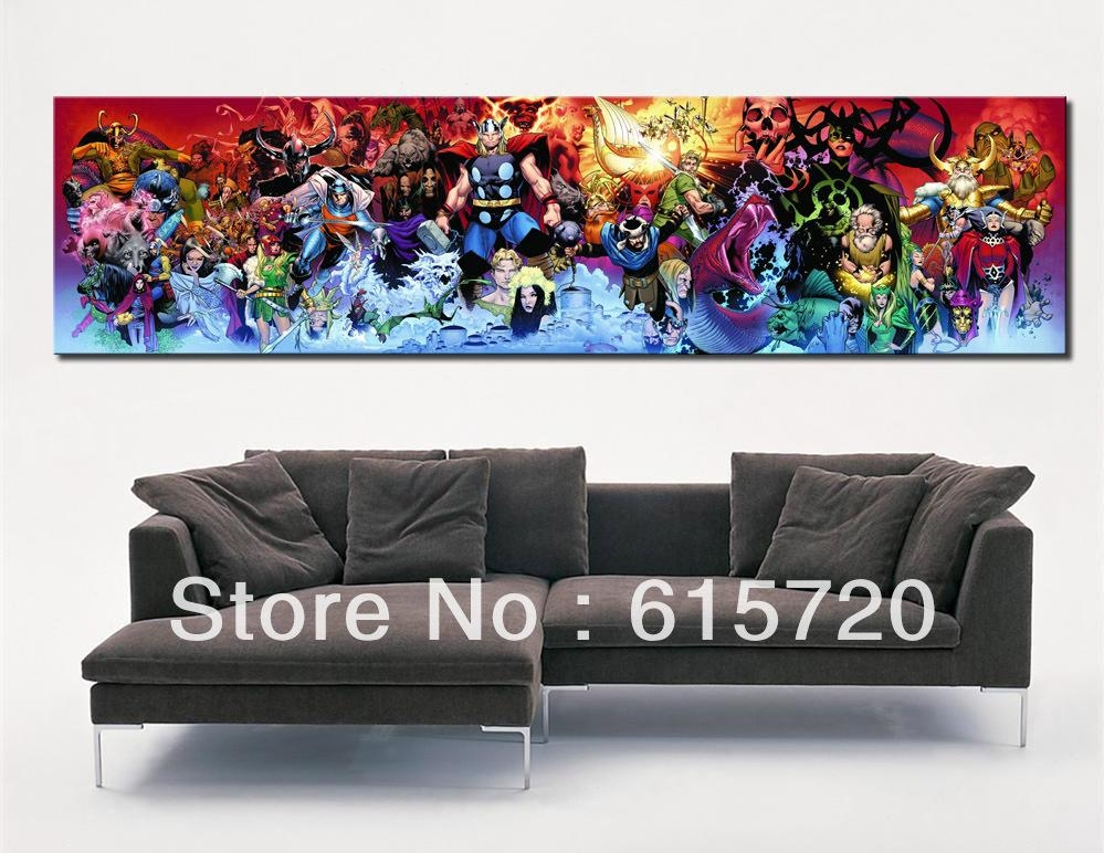 Wall Art Decor Ideas: Awesome Marvel Wall Art Canvas, Vintage For Marvel Canvas Wall Art (Image 19 of 20)