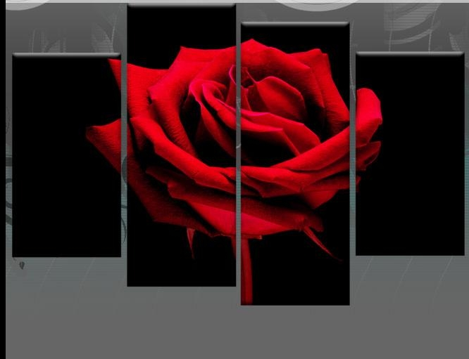 Wall Art Decor Ideas: Stunning Large Red Rose Wall Art Huge Zoomed Regarding Roses Canvas Wall Art (View 4 of 20)
