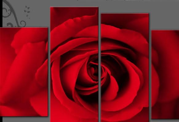 Wall Art Decor Ideas: Top Rose Wall Art Canvas, Wall Art Of Pertaining To Red Canvas Wall Art (Image 16 of 20)