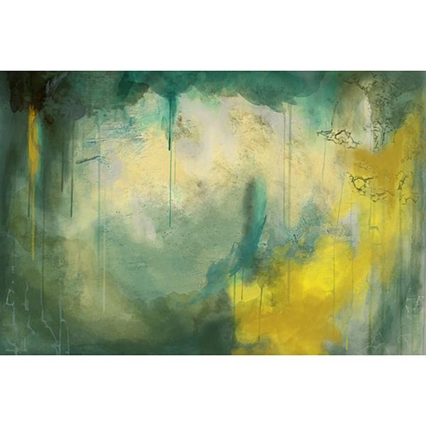 Wall Art Decor: Maxwell Dickson Canvas Abstract Wall Art Paintings Within Green Abstract Wall Art (View 3 of 20)