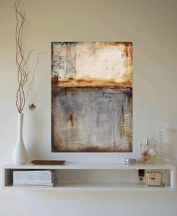 Wall Art Decor: Mixed Joline Oversized Abstract Wall Art Mural Throughout Canvas Wall Art At Walmart (View 12 of 20)