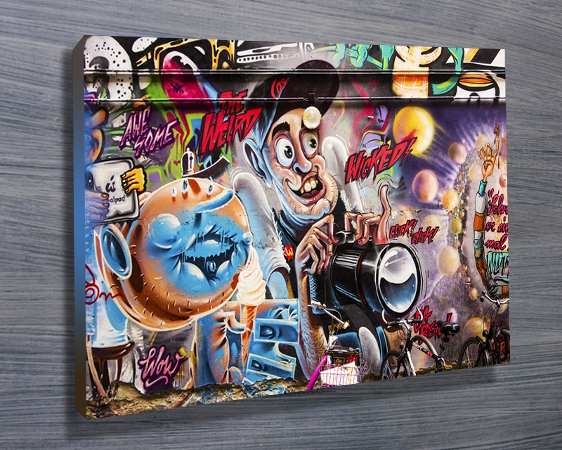 Wall Art Decor: Sample Graffiti Canvas Wall Art Great Times Nice For Graffiti Canvas Wall Art (Image 17 of 20)