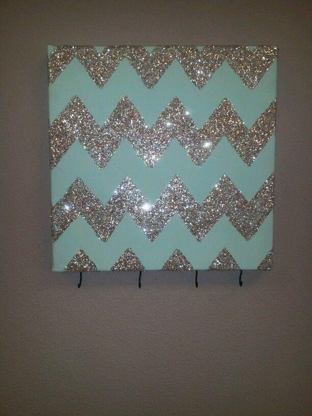 Wall Art Decor: Simple Ideas Sparkle Wall Art Zigzag Designing In Glitter Canvas Wall Art (Image 18 of 20)