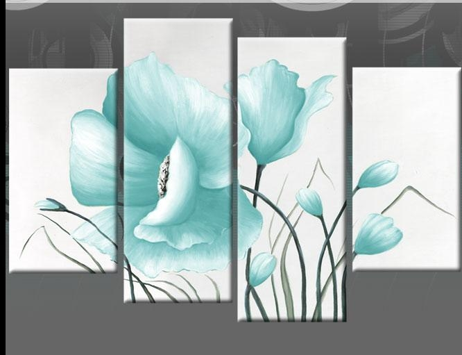 Wall Art Design: Blue Canvas Wall Art Beautiful Design Art With Blue And Brown Canvas Wall Art (Image 18 of 20)