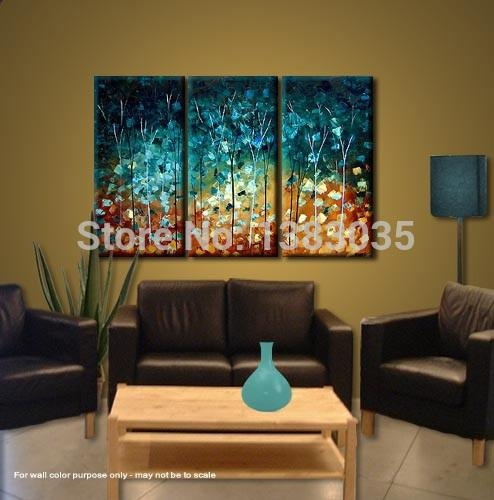 Wall Art Design: Canvas Wall Art Sets Of 3 Hand Made Painting In Canvas Wall Art At Target (View 17 of 20)