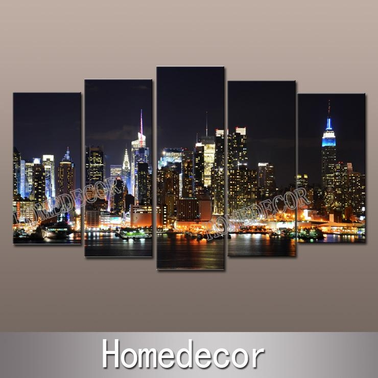 Wall Art Design: City Canvas Wall Art Wonderful Design Collection With Regard To Canvas Wall Art Of New York City (View 18 of 20)