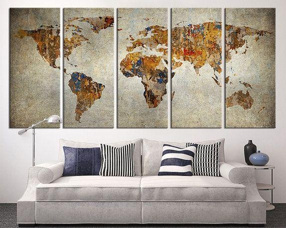 Wall Art Design: Extra Large Canvas Wall Art Luxurious Canvas With Regard To Maps Canvas Wall Art (Image 15 of 20)