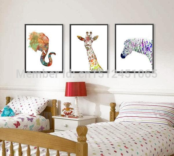 Wall Art Design: Gallery Of Wall Art Prints, Photo Print Wall Art Regarding Giraffe Canvas Wall Art (Image 20 of 20)