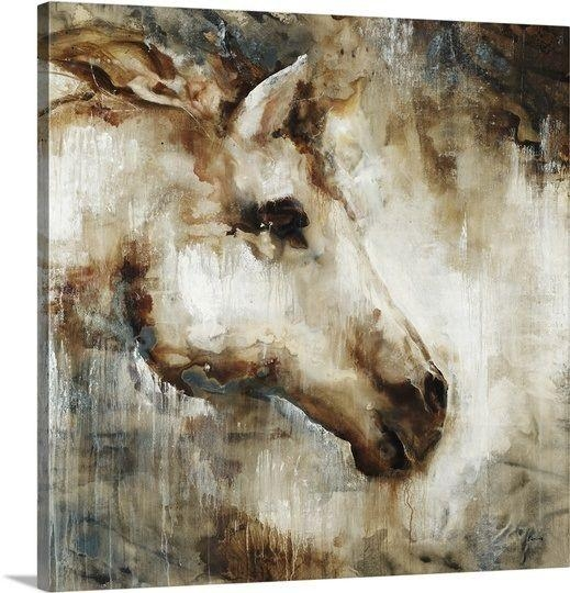 Wall Art Design: Horse Canvas Wall Art Square Brown Horse Head Intended For Horses Canvas Wall Art (Image 16 of 20)