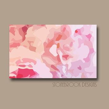 Wall Art Design Ideas: Abstract Decoration Pink Flower Wall Art Within Pink Canvas Wall Art (Image 12 of 20)