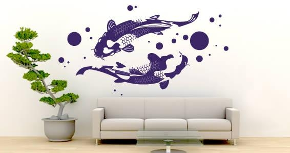Wall Art Design Ideas: Abstract Imitate Koi Wall Art Object Regarding Abstract Fish Wall Art (View 4 of 20)
