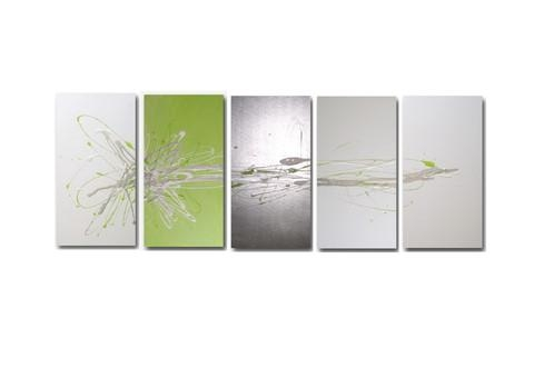 Wall Art Design Ideas: Abstract Lime Green Wall Art Sample Nice Regarding Lime Green Canvas Wall Art (Image 14 of 20)