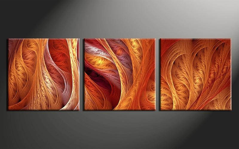 Wall Art Design Ideas: Classic Sample Orange Wall Art Nice Pieces Throughout Orange Canvas Wall Art (View 6 of 20)